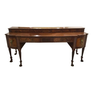 19th Century English Regency Flame Mahogany Sideboard