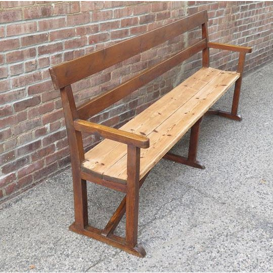 Cabin English Pine Long Bench For Sale - Image 3 of 6