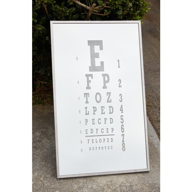 Chrome Midcentury Eye Chart Mirror For Sale - Image 8 of 13