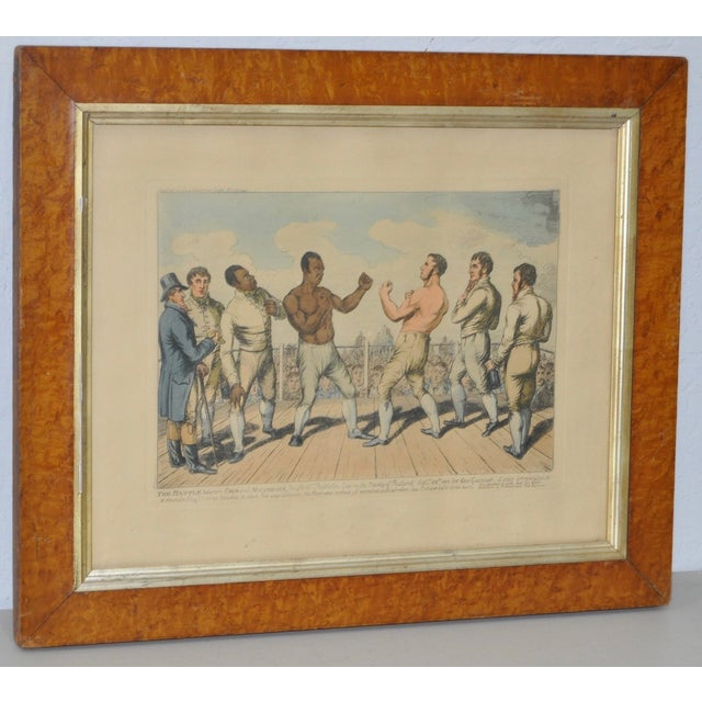 "19th century hand colored engraving ""The Battle Between Crib and Molineaux"" c.1811 Born into slavery in Virginia,..."