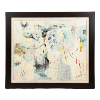 Abstract Oil on Canvas Painting Signed Emily C. For Sale