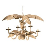 Image of Vintage Mario Lopez Torres Monkey Palm Tree Chandelier For Sale
