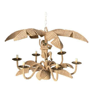 Vintage Mario Lopez Torres Monkey Palm Tree Chandelier For Sale