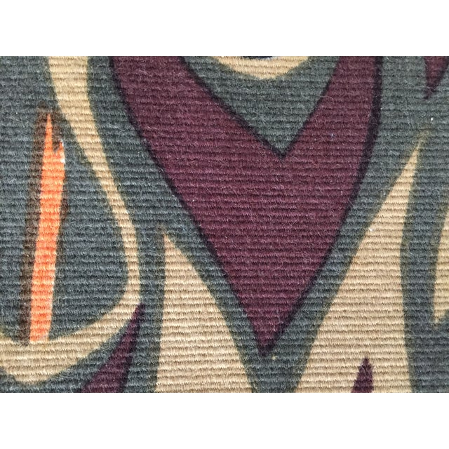 Mid Century French Wool Wall Tapestry - Image 4 of 6