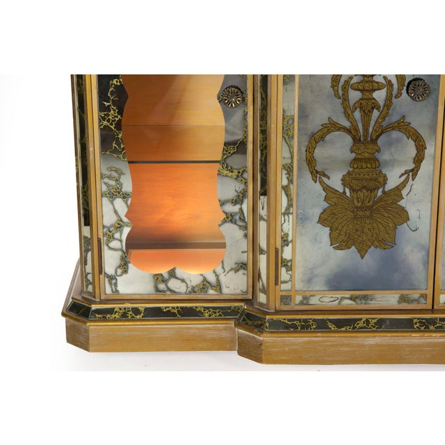 French Art Deco Smoked Mirror Bar Server Console Sideboard, C. 1940s For Sale - Image 11 of 13