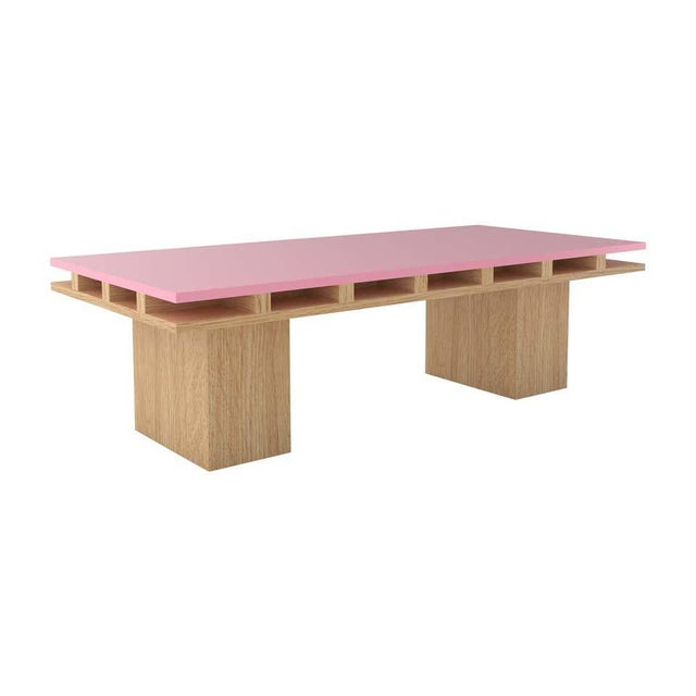 Material Lust Contemporary 101C Coffee Table in Oak and Pink by Orphan Work, 2020 For Sale - Image 4 of 4