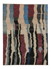 Image of Maroon Contemporary Handmade Rugs