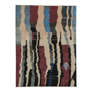 Modern Moroccan Style Rug with Contemporary Abstract Design For Sale