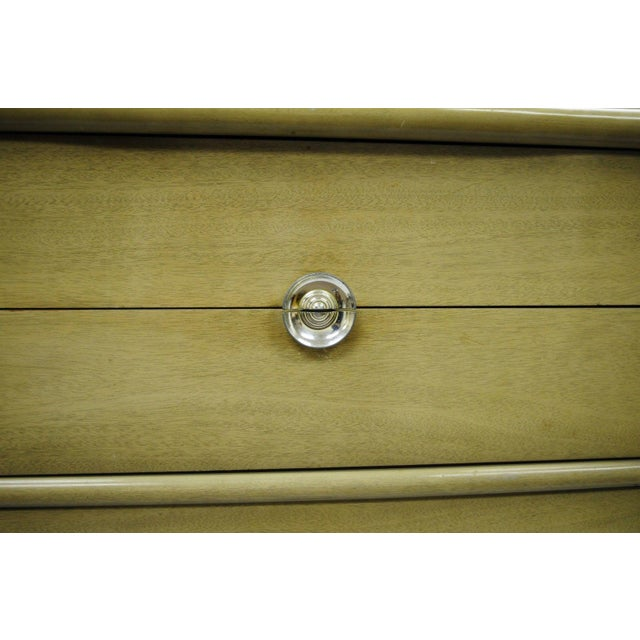 Tan Vintage Tri-Bond Mid Century Modern Bone Dresser Chest Art Deco Gilbert Rohde Era For Sale - Image 8 of 11