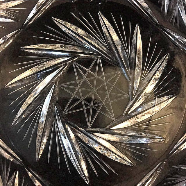 Lausitzer Pinwheel Star Pattern Crystal Bowl For Sale In Dallas - Image 6 of 10