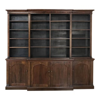 19th Century English Rosewood Bookcase ~ Very Shallow! For Sale