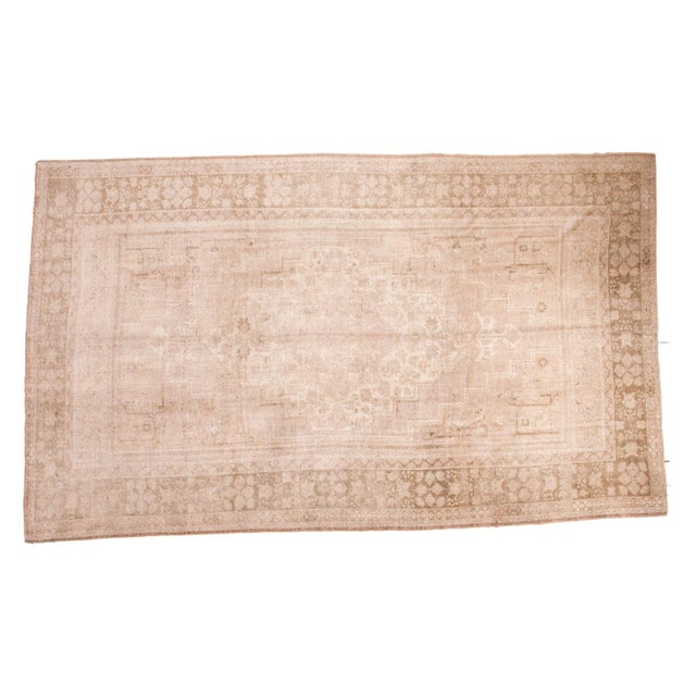 "Vintage Oushak Carpet - 7'3"" x 12'2"" For Sale"