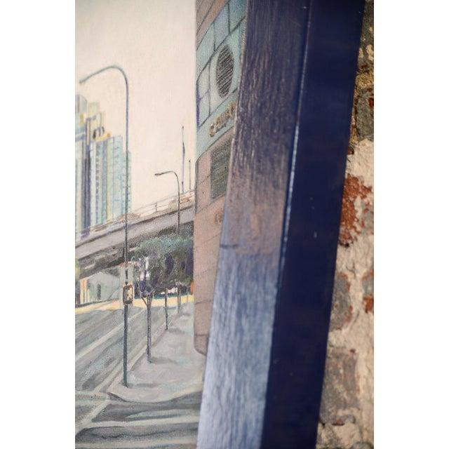 """Bonaventura Hotel Downtown LA"" Original Oil Painting by Steve Metzger For Sale - Image 7 of 9"