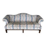 """Image of Hickory Chair Company 84"""" Chippendale Camel Back Sofa For Sale"""