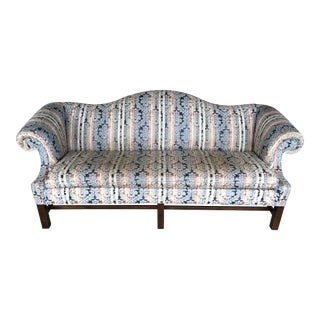 """Hickory Chair Company 84"""" Chippendale Camel Back Sofa For Sale"""