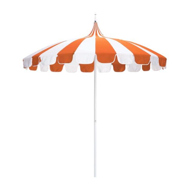 Transitional Casa Cosima 8.5' Classic Jardins Patio Umbrella in Tuscan and Natural Sunbrella For Sale - Image 3 of 3