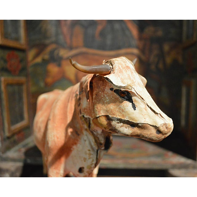 Vintage Leather Cow Pull Toy - Image 6 of 11