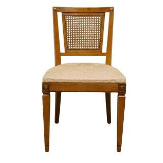 Late 20th Century Vintage RWAY Furniture Maple Colonial Cane Back Dining Chair For Sale