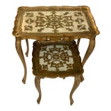 Image of 1950s Italian Florentine Nesting Tables - Set of 2 For Sale