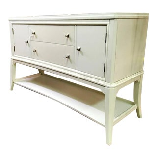 Thomasville Furniture Manuscript Paper White Dining Sideboard/Credenza For Sale