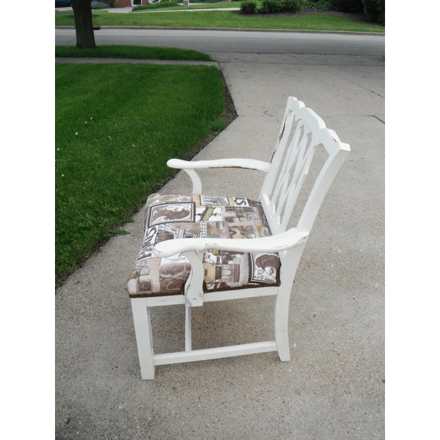 Shabby Chic Chippendale Style Captains Chair - Image 4 of 8