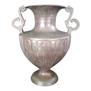 20th Century Neoclassical Hand Hammered Etruscan Copper Urn
