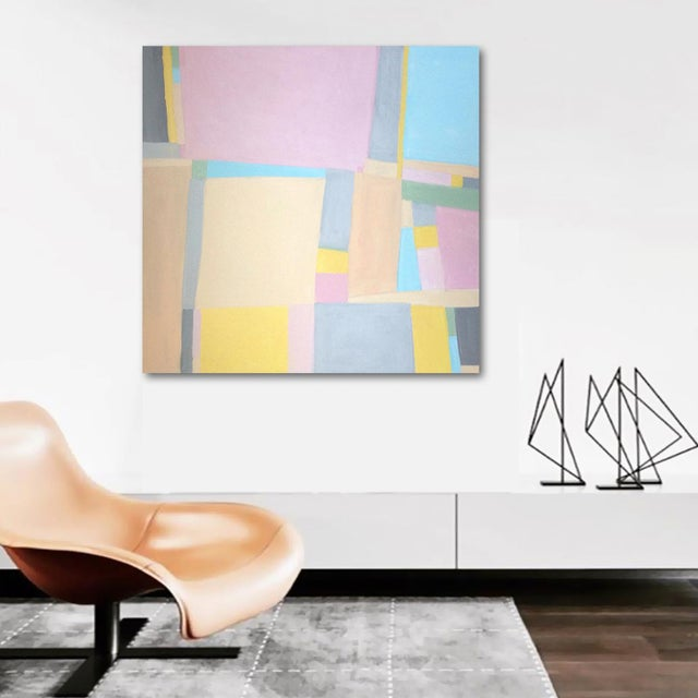 A flat, chalky pastel composition. A fresh, playful, colorful statement piece that will liven up your home or office. As...