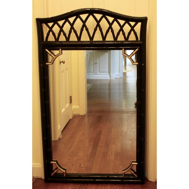 Vintage Mid-Century Thomasville Allegro Chinoiserie Bamboo Chinese Chippendale Mirror For Sale - Image 9 of 9