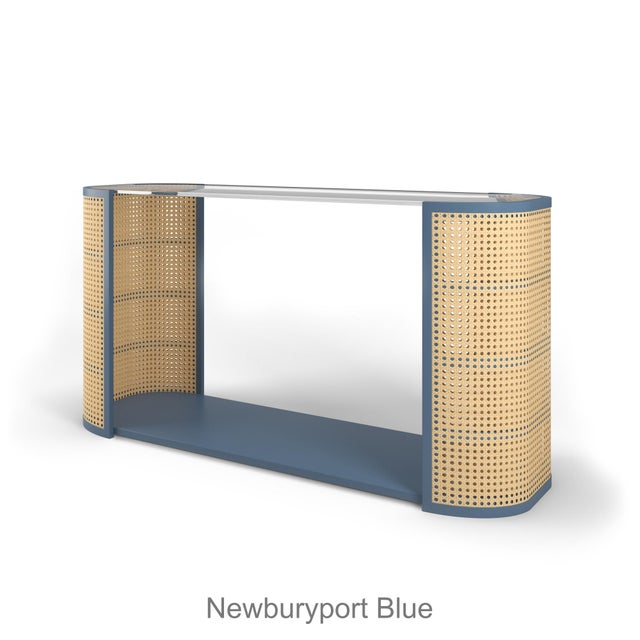 Lola Console Table - Newburyport Blue For Sale In Los Angeles - Image 6 of 6