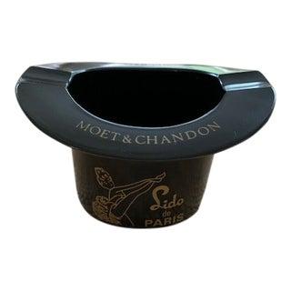 Moet & Chandon Lido De Paris Bakelite Black Top Hat Ashtray For Sale