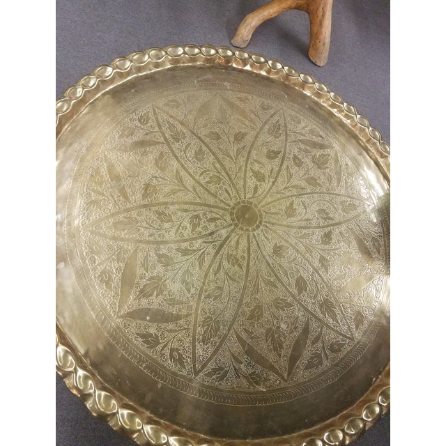Brass Mid Century Modern Round Top Coffee Table For Image 7 Of