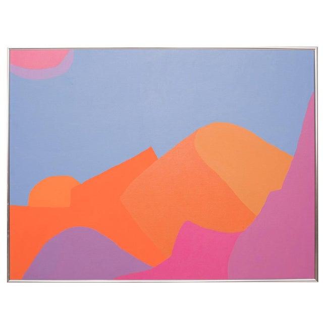 Jackie Carson Hard Edge Acrylic Painting For Sale