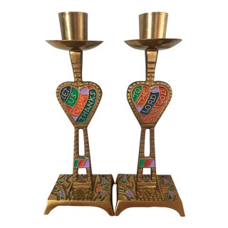 Terra Sancta Guild Mid Century Candlesticks - a Pair For Sale