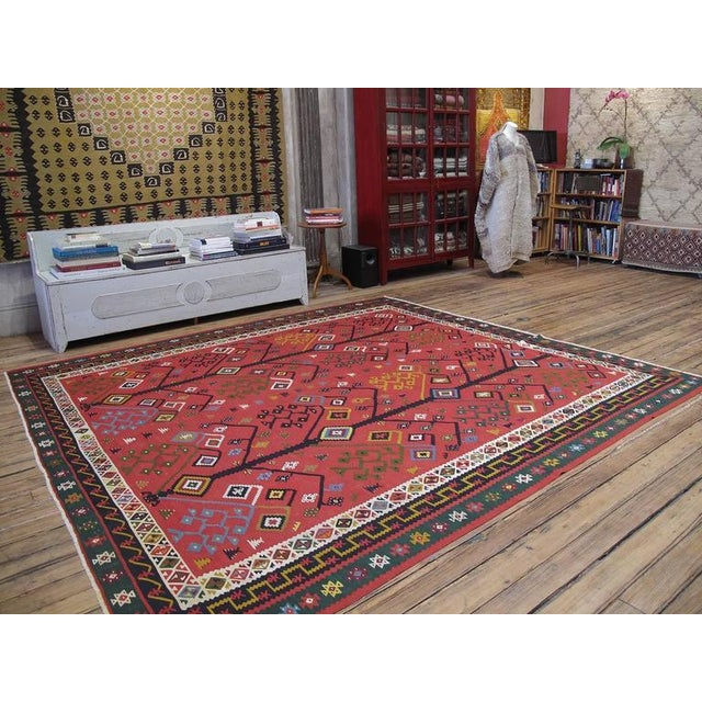 Antique Sharkoy Kilim - Image 2 of 10