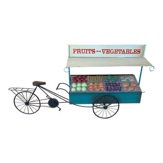 Curtis Jere Fruit and Vegetable Cart Metal Sculpture For Sale