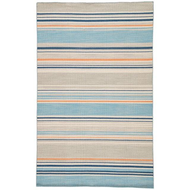 Jaipur Living Amistad Handmade Striped Blue/ Orange Area Rug - 5′ × 8′ For Sale In Atlanta - Image 6 of 6