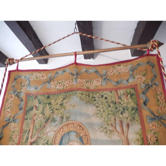 19th Century Huge Italian Religious Banner Hand-Painted For Sale - Image 10 of 11