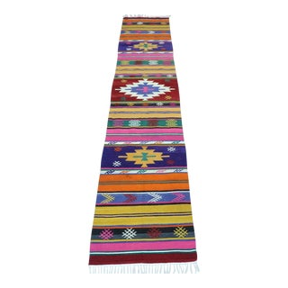 Early 20th Century Anatolia Kilim Runner- 2′ × 8′10″ For Sale