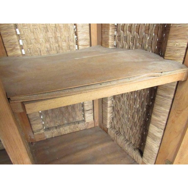 Tropical Tiki Style Dry Bar With Stools For Sale - Image 9 of 11