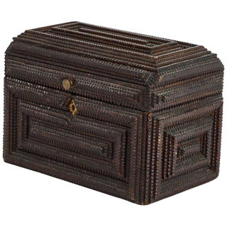 Victorian Tramp Art Box For Sale