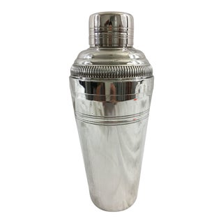 French Silver Plate Art Deco Cocktail Shaker
