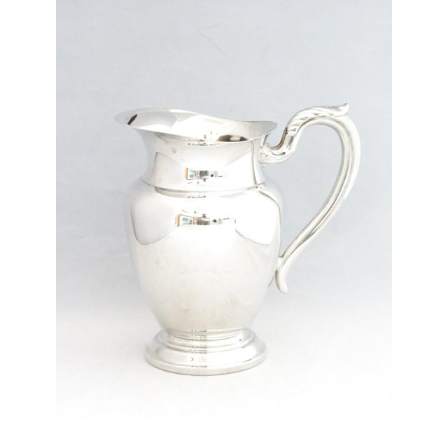 1950s Silver Water Pitcher W/Ice Shield For Sale In Denver - Image 6 of 6
