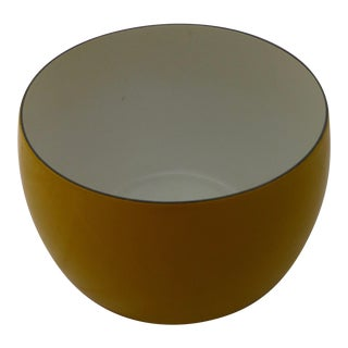 Jens Quistgaard for Dansk Mid-Century Modern Yellow Enameled Salad Bowl