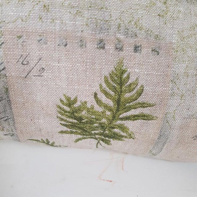 2010s Green Botanical Bolster Pillow For Sale - Image 5 of 11