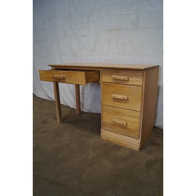 Brandt Ranch Oak Rustic Southwest Style Writing Desk (A) - Image 9 of 10
