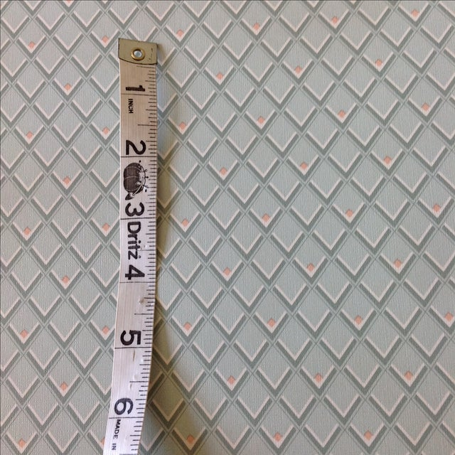 Vintage Petite Diamond Wallpaper - 2 Bolts For Sale In Chicago - Image 6 of 9