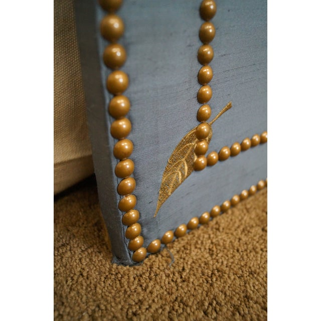 Quality Upholstered Tall Folding Screen - Image 5 of 10