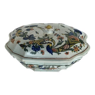 Mid 19th Century Faience Serving Bowl For Sale
