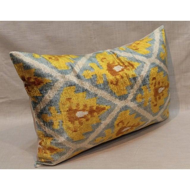 Lattice Ikat Silk Velvet Pillow - Image 4 of 4