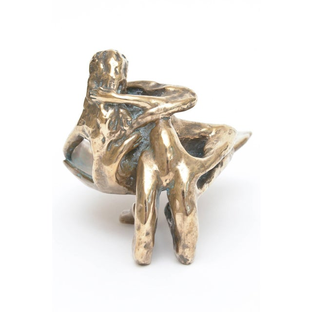Bronze Sensual and Erotic Lovers Embrace Sculpture - Image 9 of 10